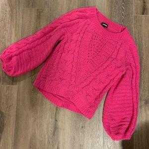 Express Pink knit sweater